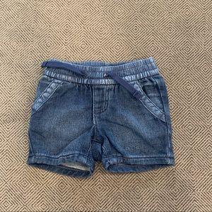 NWOT Gap Dark Wash Denim Shorts 0-3M